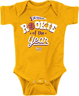 Los Angeles Basketball Fans. Rookie of The Year Gold Onesie or Toddler Tee (NB-4T)