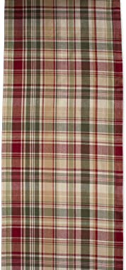 "Cabin Plaid 100% Cotton Table Runner (14x72"")"