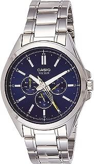 Casio MTP-SW300D-2AV Men's Precisionist Stainless Steel Sweep Second Hand Multifunction Watch