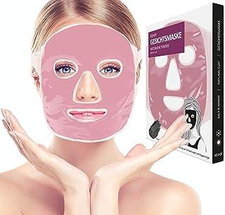 ICEHOF Kühlmaske mit Tonerde - Kühlende Maske für das Gesicht - Wohltuende Wellnessmaske - Entspannungsmaske wirkt beruhigend & schmerzlindernd - Gesichtsmaske Rosa