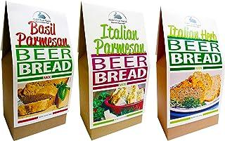 Rabbit Creek Beer Bread Mix Variety Pack of 3 – Italian Parmesan, Italian Herb & Basil Parmesan Beer Bread Mix