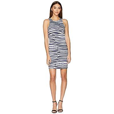 Nicole Miller Mini Dress (Blue/White) Women