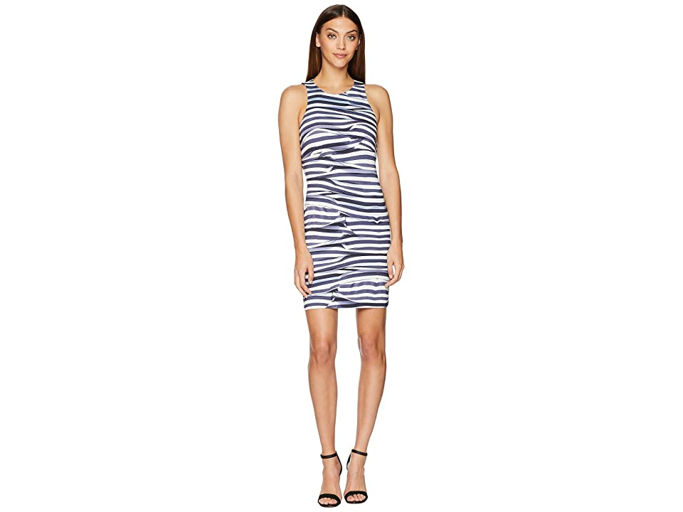 Nicole Miller Mini Dress (Blue/White) Women