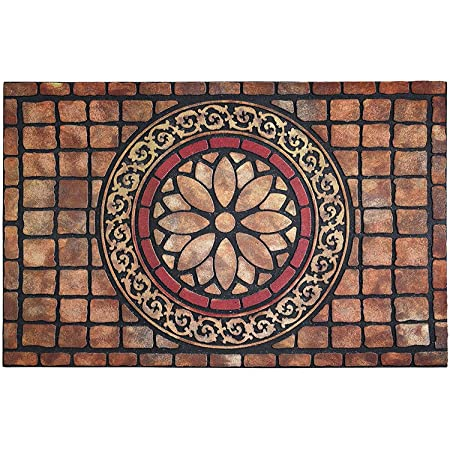 CHICHIC Entrance Door Mat Large 24 x 36 Inch Entry Way Doormat Front Door Rug Outdoor Heavy Duty Welcome Mat, Non Slip Rubber Back Low Profile for Garage, Patio, High Traffic Area, Rectangle Style