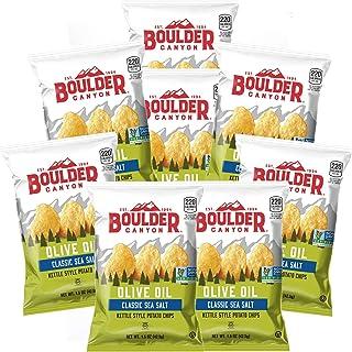 Boulder Canyon Olive Oil/Sea Salt Kettle Chip 1.75 oz., Pack of 8