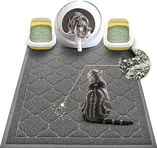 WePet Cat Litter Mat Jumbo, Kitty Litter Trapping Mess Mat, XXLarge Size, 47 x 36 Inch, Premium Durable Soft PVC Rug, No P...
