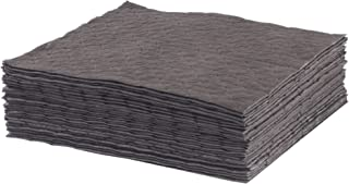 ESP 2MBGPSL Polypropylene Medium Weight Meltblown Maintenance Universal Absorbent Single Sided Laminated Pad, 18 Length x 15 Width, Gray (100 Per Bale),