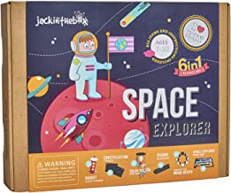 jackinthebox Space Themed STEM Educational Craft Toy for Boys and Girls | 6 Activities-in-1 Kit | Best Gift for Kids Aged 6,7,8,9,10 Years Old | Top Creative Learning Game