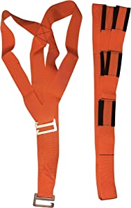 Lifting and Moving Straps, Set of Straps for 2 People, Orange, Shoulder Strap, Furniture Mover, Appliance Mover, Lift and Move Heavy Bulky Objects Safely, Efficiently. OneLina
