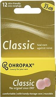 2 Ohropax Wax Earplugs 12 Plugs for a Total of 24 Plugs