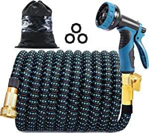 150 FT Expandable Garden Hose, Lightweight Retractable Water Hose with 3/4