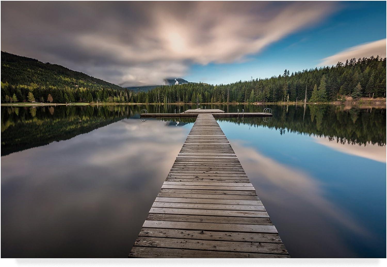 Lost Lake Dock by Pierre Leclerc, 12x19Inch