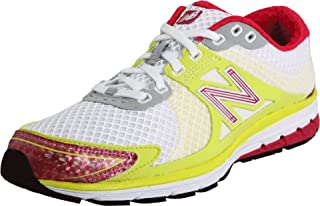 New Balance Women's WR1190 Running Shoe,White/Yellow/Pink,6.5 B US