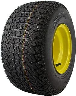 MARASTAR 21428 Radial 18x8.50-8 Rear Tire on Wheel Replacement for John Deere Riding Mowers, Black