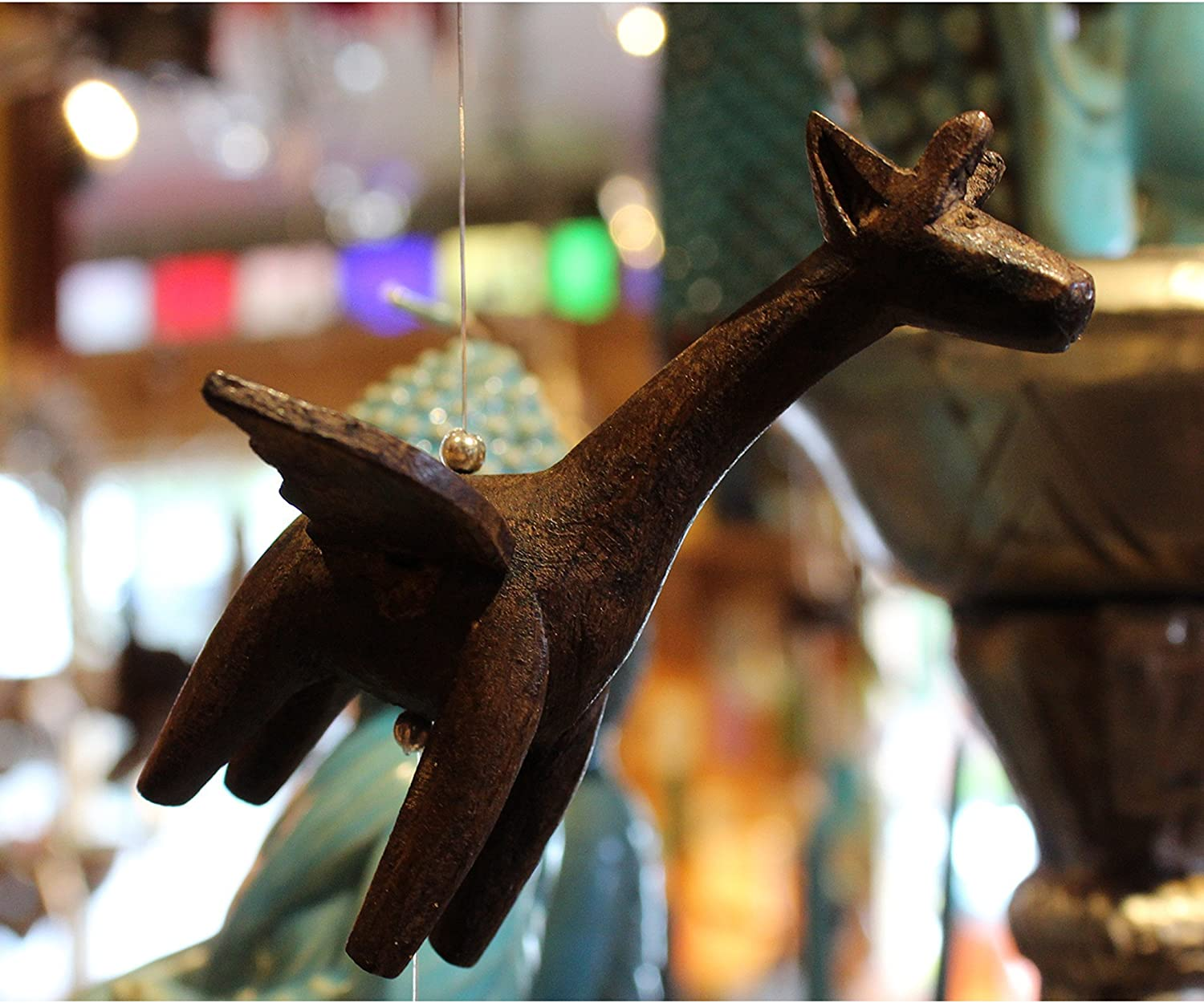 Candlestock Wooden Animal Hanging Giraffe - Spinners In a popularity Selling rankings Wind