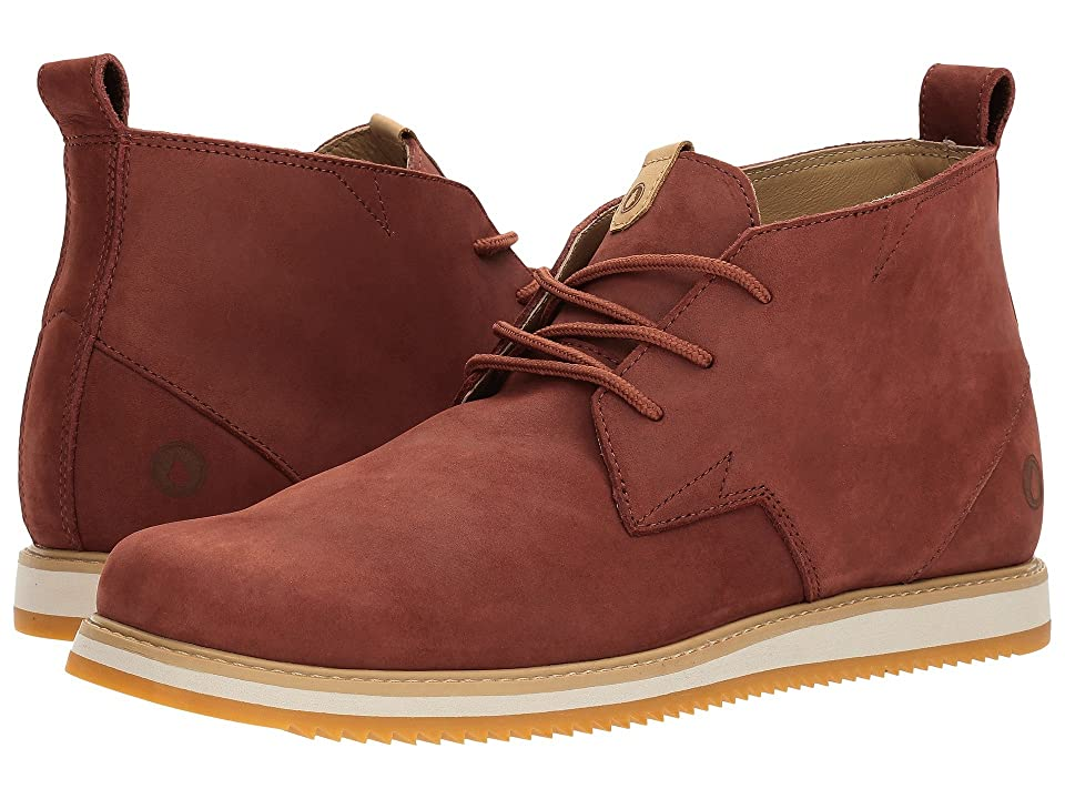 Volcom Del Coasta Leather Shoe (Rust) Men
