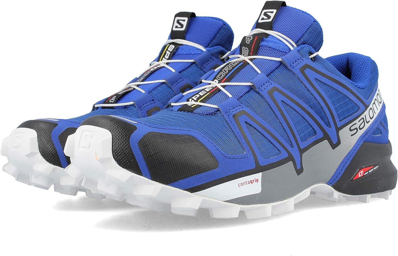 Salomon Speedcross 4 Trail Laufschuh Herren blau schwarz, 11.5 UK - 46 2 3 EU - 12 US