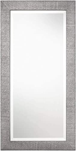 """2021 Uttermost popular Tulare high quality Metallic Silver 24"""" x 48"""" Wall Mirror online"""