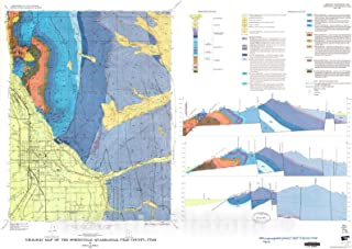 Historic Pictoric Map : Geologic map of The Springville Quadrangle, Utah County, Utah, 1973 Cartography Wall Art : 36in x 24in