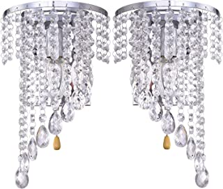 Junhong Lighting Wall Lighting A Pair K9 Crystal Wall Lights Wall Installation Wall Lamp Sconce Night Light Lamps Apply to...