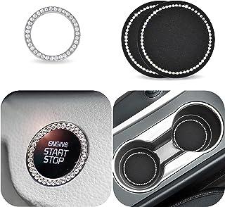 نگهدارنده جام لیوان اتومبیل EcoNour - 2.75 اینچ (2 بسته)   برچسب نشان Bling Ring Emblem (1 بسته)   دارنده جایگاه جام اتومبیل Bling Cup Insert Coaster   دکوراسیون داخلی خودرو   لوازم جانبی اتومبیل Bling برای زنان