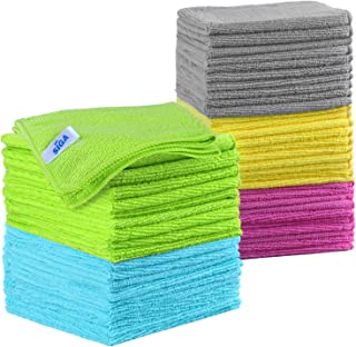 MR.SIGA Microfiber Cleaning Cloth, All-Purpose Cleaning Towels, Pack of 50, Size 11.8 x 11.8 in