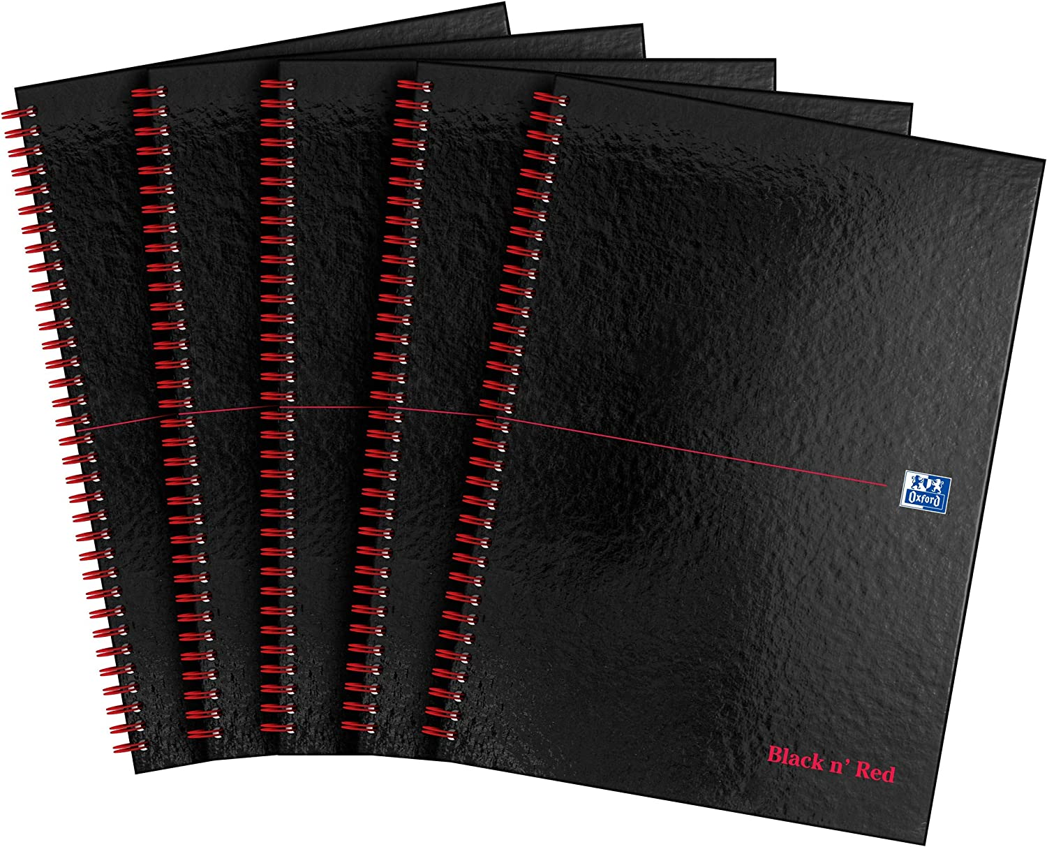 Oxford Black n' Red Selling rankings A4 L Glossy Hardcover Notebook Discount is also underway Wirebound