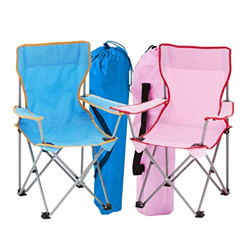0122f253e04f simpa 2 x Childrens Folding Camping Chairs - Avaibale in Pink, Blue or  Assortment Coloured