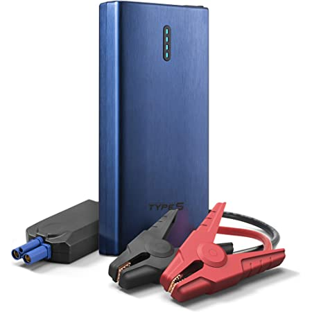 Car Jump Starter Auto Battery Charger,8000mAH Portable 12V Car Jump Starter Engine Battery Charger Power Bank for Gasoline Engine 3.0L Black