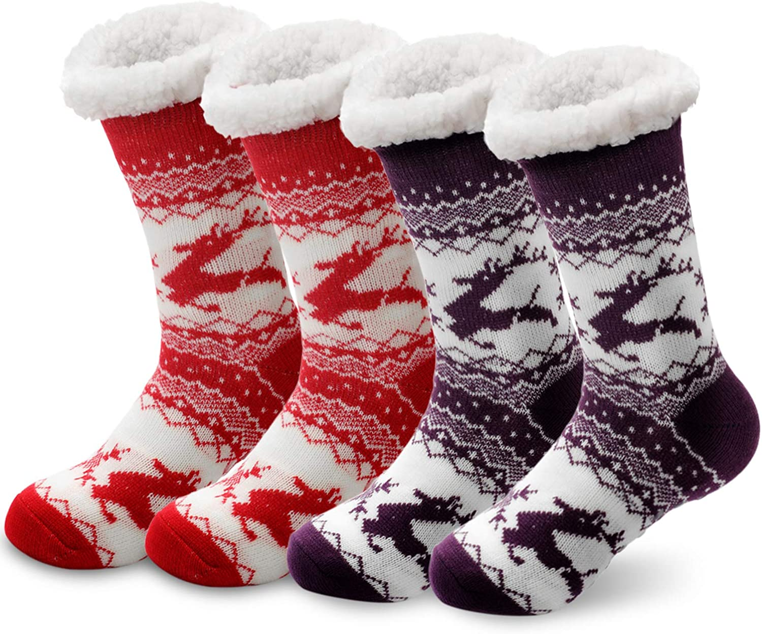 SEVENS 2 Pairs Women 25% OFF Slipper Socks Super Cozy Fuzzy Soft Indianapolis Mall Winter