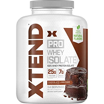 Scivation XTEND Pro Protein Powder Chocolate Lava Cake   100% Whey Protein Isolate   Keto Friendly + 7g BCAAs with Natural Flavors   Gluten Free Low Fat Post Workout Drink   5lbs