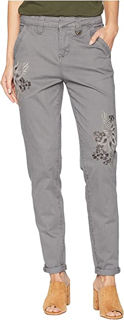 Dana Chino Pants w/ Embroidery