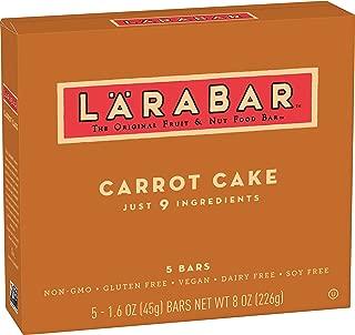 Larabar, Fruit & Nut Bar, Carrot Cake, Gluten Free, Vegan (5 Bars)
