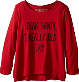 Dear Santa I Really Did Try Long Sleeve Pullover (Little Kids/Big Kids)