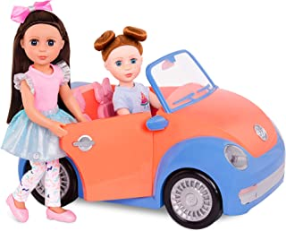 "Glitter Girls by Battat - Convertible Car for 14"" Dolls - Toys, Clothes & Accessories for Girls 3-Year-Old & Up, Blue, Ora..."