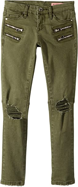 Blank NYC Kids Cargo Distressed Utility in Olive Twist (Big Kids)