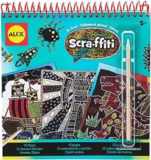 Alex Artist Studio Scra-ffiti So Cool Artist Studio Scratch Pad Coloring and Sketch Book Kids Art and Craft Activity