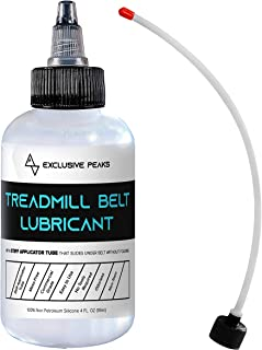 Exclusive Peaks 100% Silicone Treadmill Belt Lubricant/Treadmill Lube - Easy to Apply Extension Tube Treadmill/Elliptical Lubricant - Made in The USA