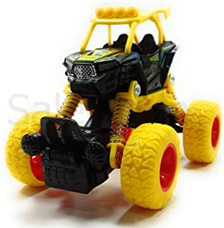 SaleOn™ Unbreakable Diecast Mini Monster Truck Pull Back Mechanism with Rubber Tyre and Jumper (Assorted Color)-1030