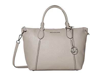 MICHAEL Michael Kors Sierra Large Satchel (Pearl Grey) Handbags
