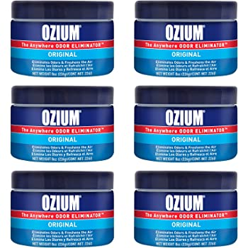 Ozium 8 Oz. Odor Eliminating Gel 6 Pack for Homes, Cars, Offices and More, 6 Pack