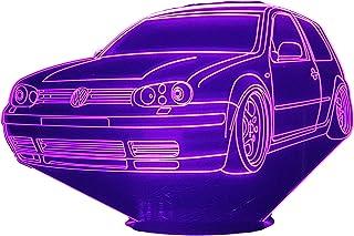 VW GOLF 6, Lampada illusione 3D con LED - 7 colori.