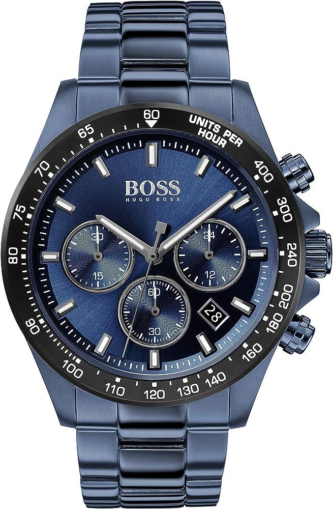 Hugo boss,orologio,cronografo da uomo ,in acciaio inossidabile con placcatura ionica 1513758