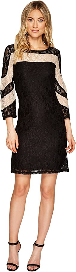 Hazel Two-Tone Lace Dress