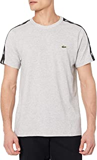 Men's Short Sleeve Colorblock Logo Tape Techinical Jersey T-Shirt