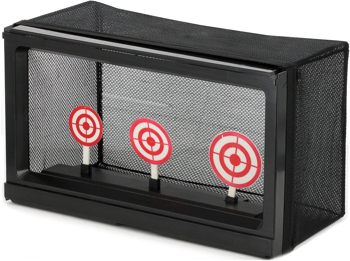 BBTac Airsoft Target with Auto-Reset, Stand, Trap Net Catcher, for Airsoft Gun Shooting BB Pellets Indoor Outdoor : Sports & Outdoors
