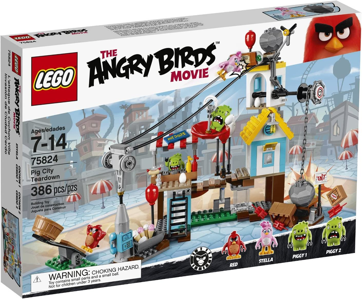 Popular standard At the price LEGO Angry Birds 75824 Teardown Pig City