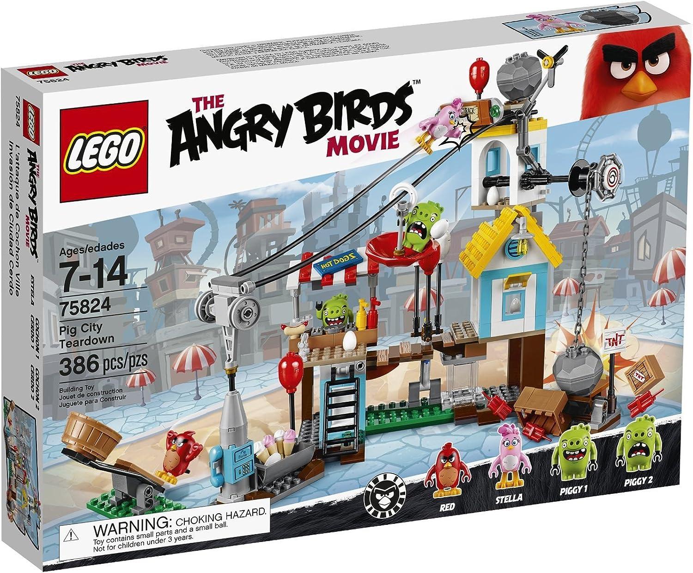 Lego–75824–The Angry Birds Movie Set, Zerstrung der Stadt der Schweine