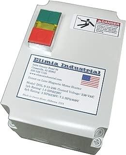 Elimia Enclosed Magnetic Motor Starter, 7.5 HP, 230V, Nema 4X, 17-25 Amp Overload
