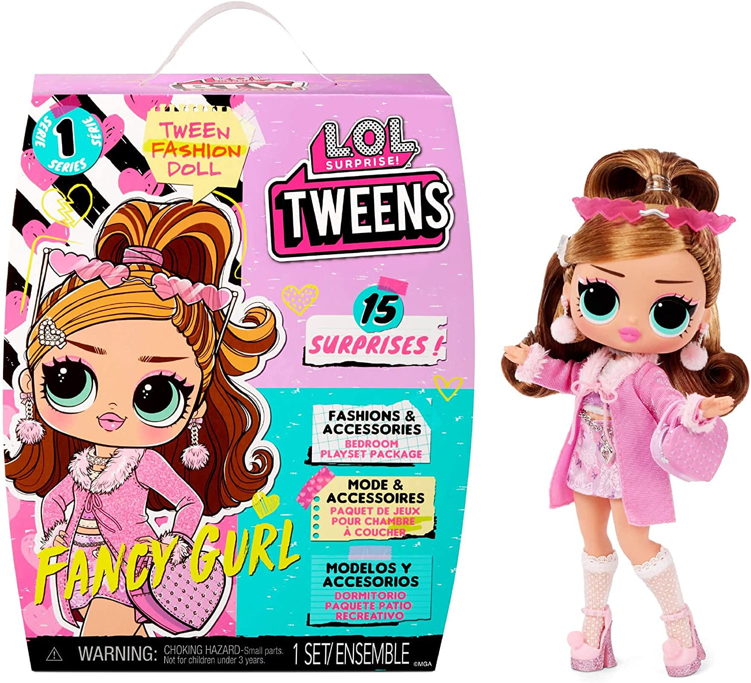 LOL Dedication Surprise Tweens Fashion Doll Fancy 15 Surprises Gurl In a popularity with